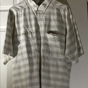 Classic Dockers Large Striped Casual Button Down